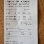 Ceny chleba w sklepie w Chorwacji