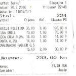 Rachunki picia coca coli, fanty z Chorwacji